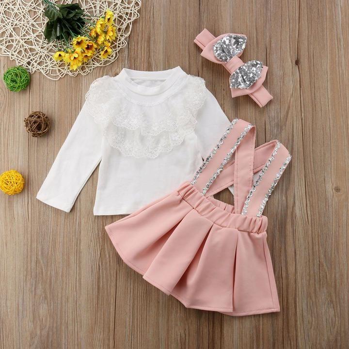 Strap Skirt Set 3 Pieces Ropas De Beb 233 Vestidos De