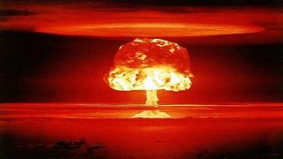 Why are atomic bomb clouds mushroom-shaped?