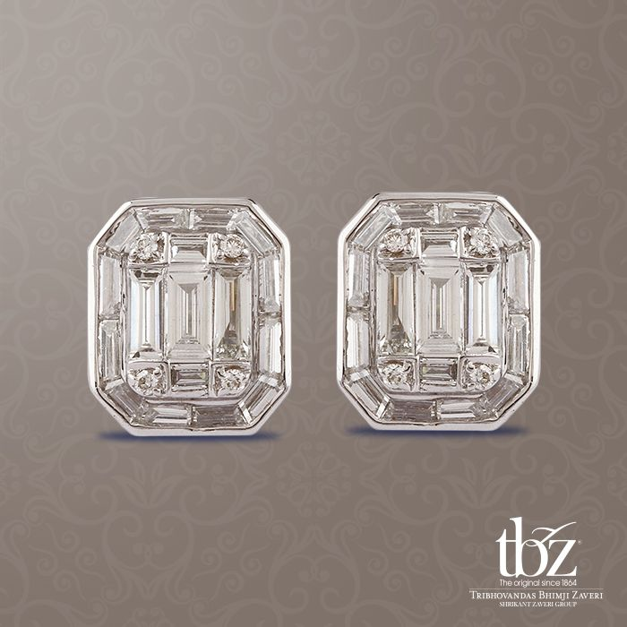 Give your ensemble a trendy edge, with these simple yet stunning diamond studs.