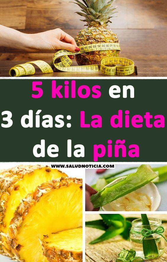 dieta de piña y pollo 3 dias