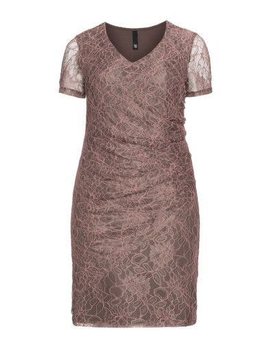 Robe fourreau en dentelle avec drap� de Manon Baptiste. Venez d�couvrir: http://www.navabi.fr/robes-manon-baptiste-robe-fourreau-en-dentelle-avec-drape-gris-taupe-corail-24221-5051.html?utm_source=pinterest&utm_medium=social-media&utm_campaign=pin-it