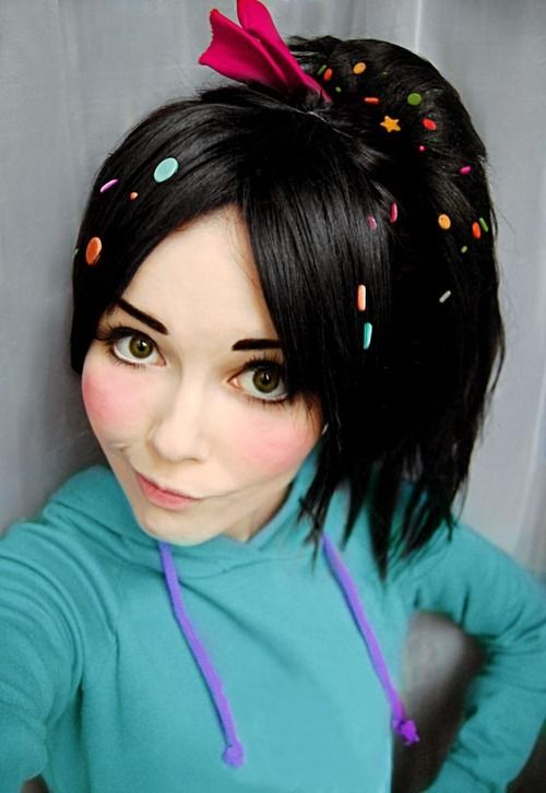 """Vanellope Von Schweets from """"Wreck it Ralph."""" View more EPIC cosplay at http://pinterest.com/SuburbanFandom/cosplay/"""