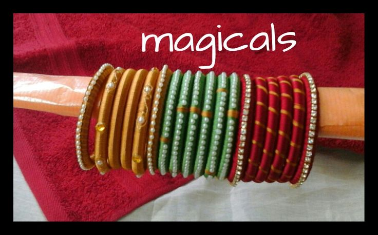 Silk thead bangles
