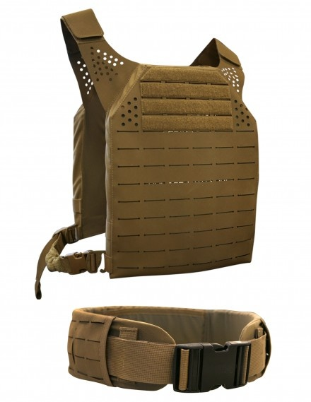 Designed by the ArmorWorks WarriorWorks Team to be used with PALS compatible pouches, the Modular Plate Carrier trades external webbing for slots cut into a new impregnated fabric.  It's tough.  We gave a few tugs at SHOT Show and it can't be torn by hand.  The unique construction offers over 150 MOLLE gear, cable, and hydration connection points.  Designed for ESAPI/SAPI plates and soft armor inserts, it offers multiple configuration options including integrated water bladder, cummerbunds…