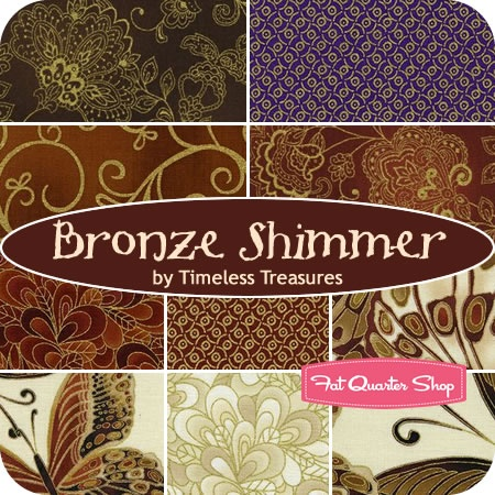 Bronze Shimmer Fat Quarter Bundle Timeless Treasures Fabrics