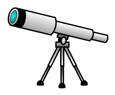 Look to the sky and tell me you didn't see this nice cartoon telescope!