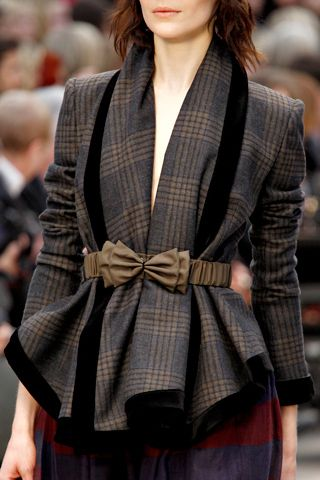 Leather/satin elasticated bow belts, Burberry Prorsum F/W 2012