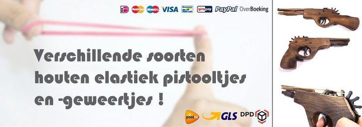 Elastiekjes schiet-pistooltjes en -geweertjes - ELASTIEK-PISTOOL.NL