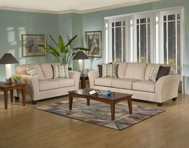 Serta Upholstery 4650 Viewpoint Tan Sofa Loveseat