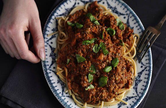 Vegansk spaghetti bolognese