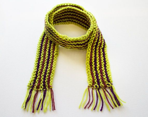 Zombie Green Kid's Scarf - Halloween Children's Green Scarves for Keeping Warm While Trick or Treating! by StripyKite