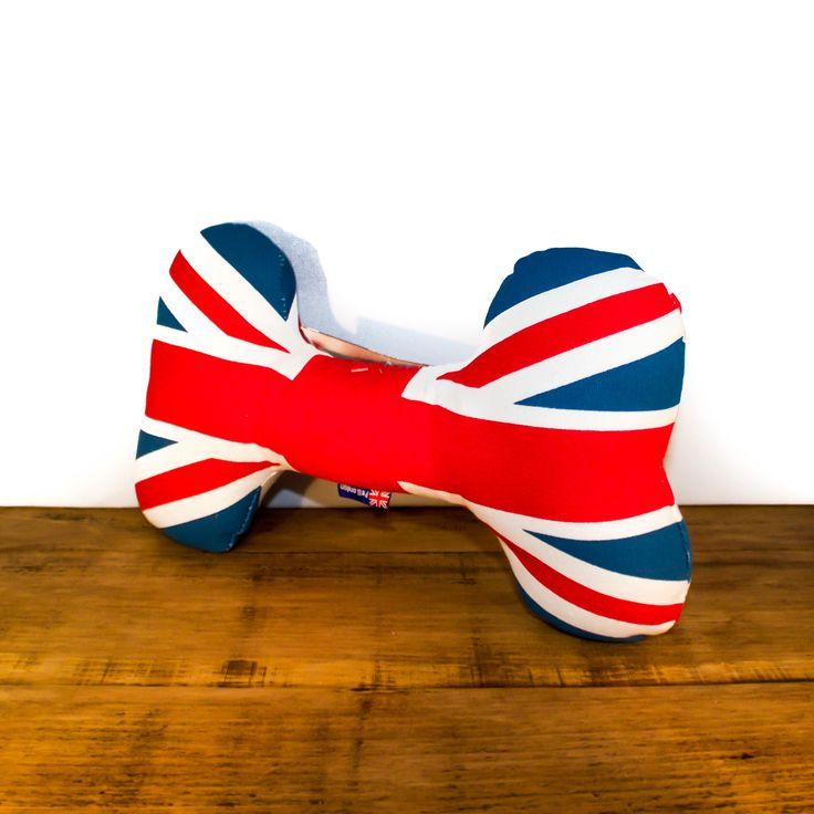 This large and funky canvas bone toy from Pet London is a great gift for patriotic pooches! It's the perfect size for medium to large breeds to play with.