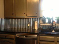 corrugated tin backsplash - Google Search                                                                                                                                                                                 More