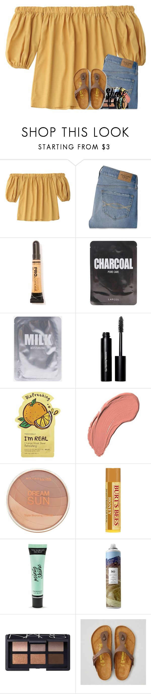 """ugh picture day is tomorrow"" by katie-1111 ❤ liked on Polyvore featuring Abercrombie & Fitch, L.A. Girl, Lapcos, Bobbi Brown Cosmetics, Tony Moly, NYX, Maybelline, Victoria's Secret, R+Co and NARS Cosmetics"