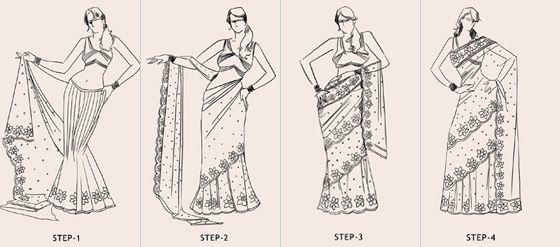 mumtaaz style saree draping steps
