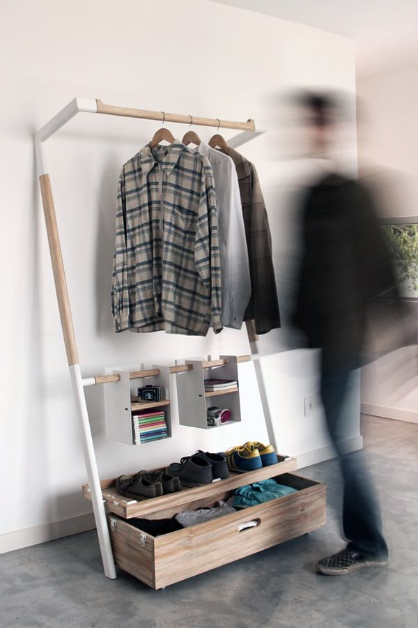 Arara Nômade is a minimal design created by Brazil-based designers André Pedrini & Ricardo Freisleben. The design is a unique play on the easy-to-assemble furniture we all love. The closet requires no screws or glue to assemble, it is merely an intuitive structure that is easily packed and unpacked. (7)