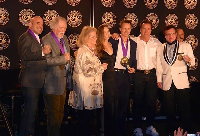 SPORTS HALL OF FAME BLEW THE DOORS OFF!! International Sports Hall of Fame CLASS OF 2018 attended by over 100 members of the International Media!! HUGE SUCCESS!  Ronda Rousey-UFC World Champion Movie Star-('The Expendables 3' 'Entourage') Bas Rutten-UFC World Heavy Weight Champion UFC Hall of Fame & Movie Star Phil Keoghan-'The Amazing Race'-Host World bungee jumping record Dr Terry Todd/Dr Jan Todd-World Powerlifting Champions/Arnold Strong Man Competition Www.SportsHOF.org Hall of Fame…