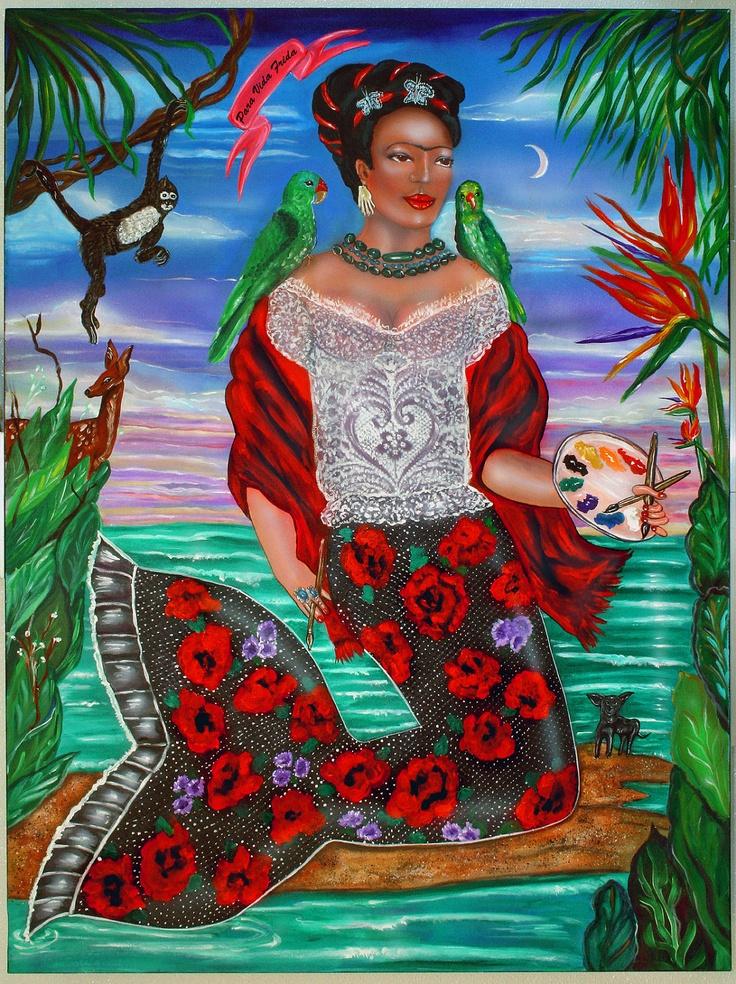 Frida Kahlo as a Mermaid