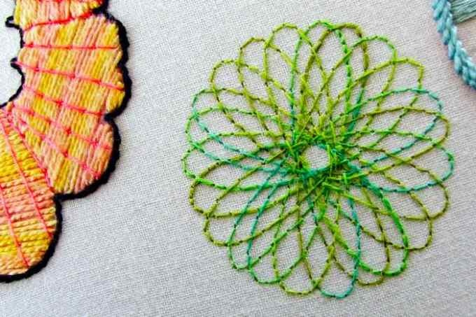 Spirograph Stitching - I did on a canvas bag
