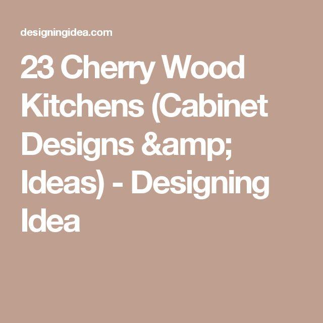 23 Cherry Wood Kitchens (Cabinet Designs & Ideas) - Designing Idea