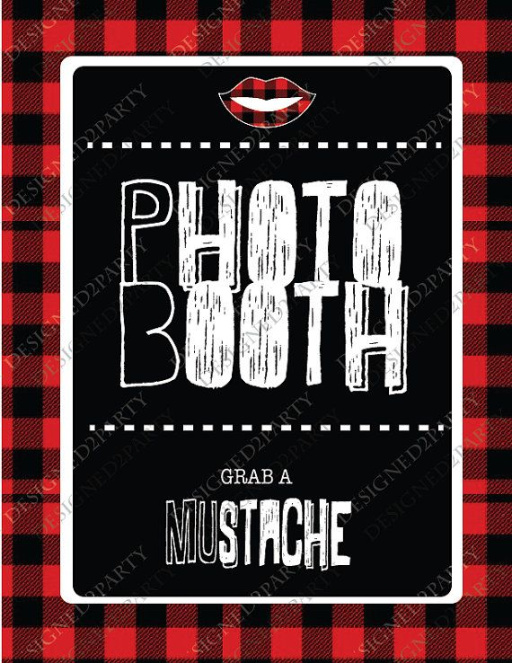 Lumber Jack and Jill Photo Booth Party props by designed2party