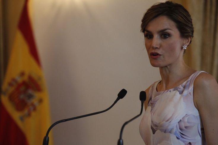 Doña Letizia, durante su intervención en el almuerzo ofrecido por el Presidente de El Salvador y la Primera Dama. Casa Presidencial. San Salvador (El Salvador), 28.05.2015