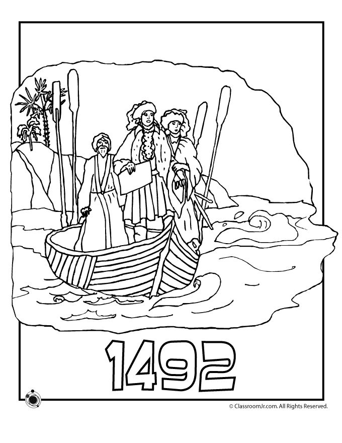 Columbus Day Coloring Pages 1492 Columbus Day Coloring Page – Classroom Jr.