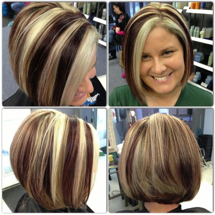 Short Hairstyles With Chunky Highlights Best Short Hair Styles