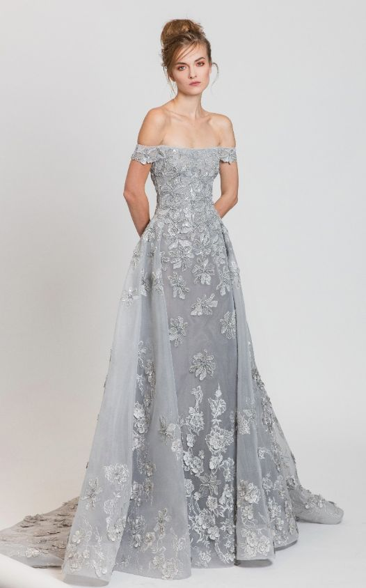 Featured Dress: Tony Ward; Evening dress idea.