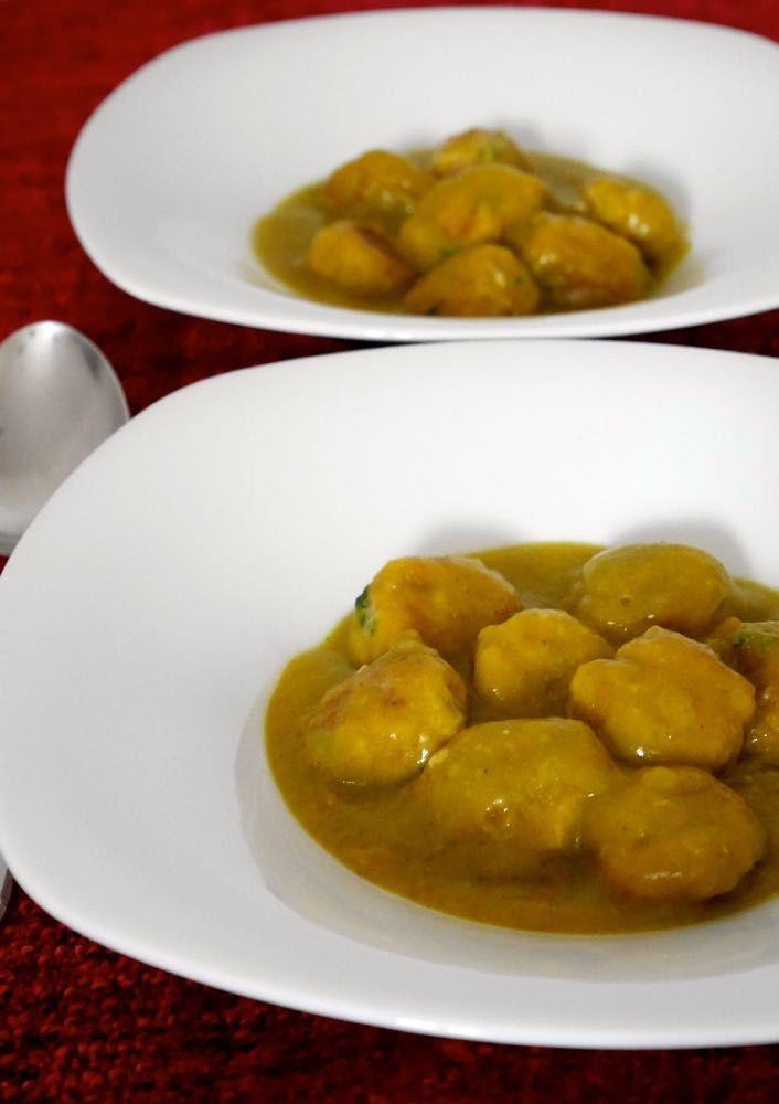Polpette di carne e ricotta con crema di verdure
