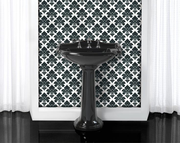 Berkeley Black Ceramic Large Basin & Pedestal www.sinkandtap.com.au