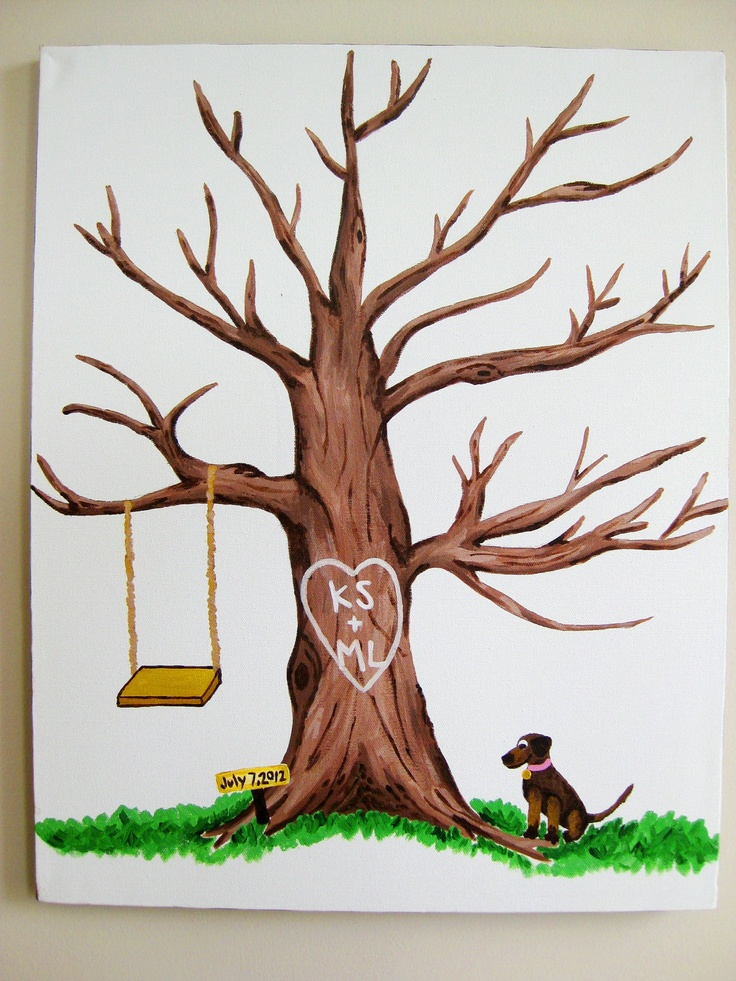 21 best images about wedding tree thumbprint guestbook on