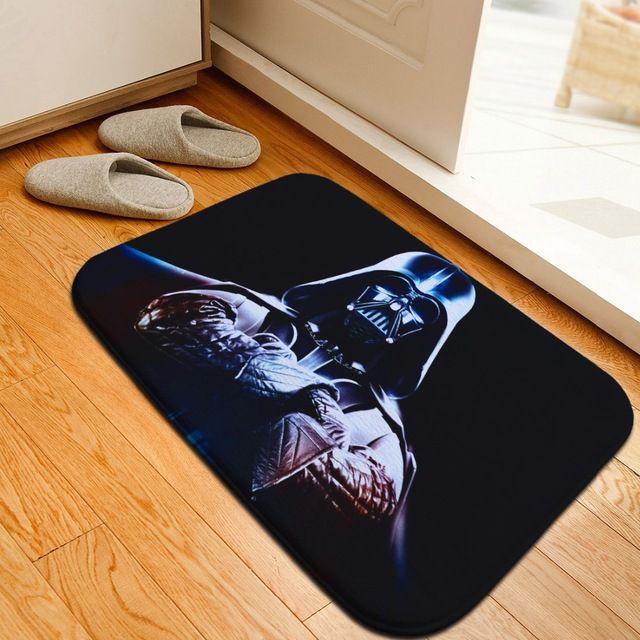 40*60 см марка star wars дверной коврик мягкий фланель печати коврики для ванной скольжению кухня мат марка alfombra ковер детская комната