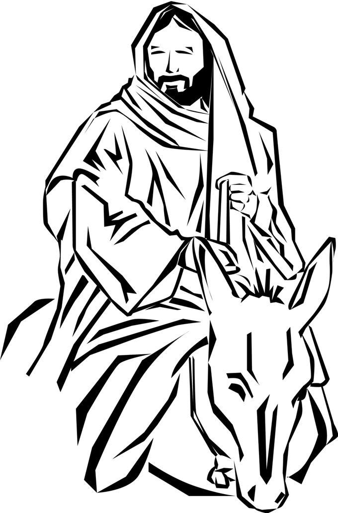 14 best christian clip art images on pinterest jesus christ clip rh pinterest com  palm sunday clip art black and white