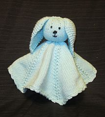 Bunny Blanket Buddy Knit Pattern : 17 Best images about crochet/knitting-baby- blanket buddies on Pinterest Fr...