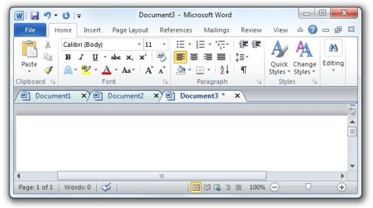 Office Tab Free Edition. Provide tabbed editing and managing for Microsoft Office.