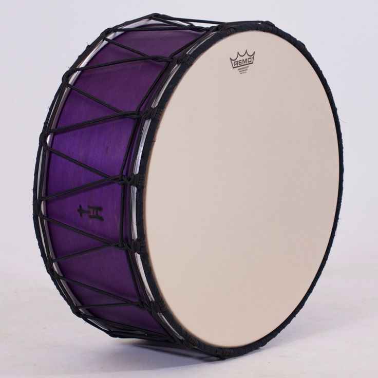 Wanna Boom your bass notes and Tek your trebles without all the back strain of a 16x28 drum-on-a-strap?  It's quite fantastic how much sound comes out of this scaled-down Tupan!  Don't let the skinniness fool you into thinking it sounds thin.  Oh, and it's purple, which is amazing.  8¾x20; plied maple; satin wax.  To see more pix, and search our entire TreeHouse archive for your favorite specs, visit our photo gallery: www.treehousedrums.com/photos