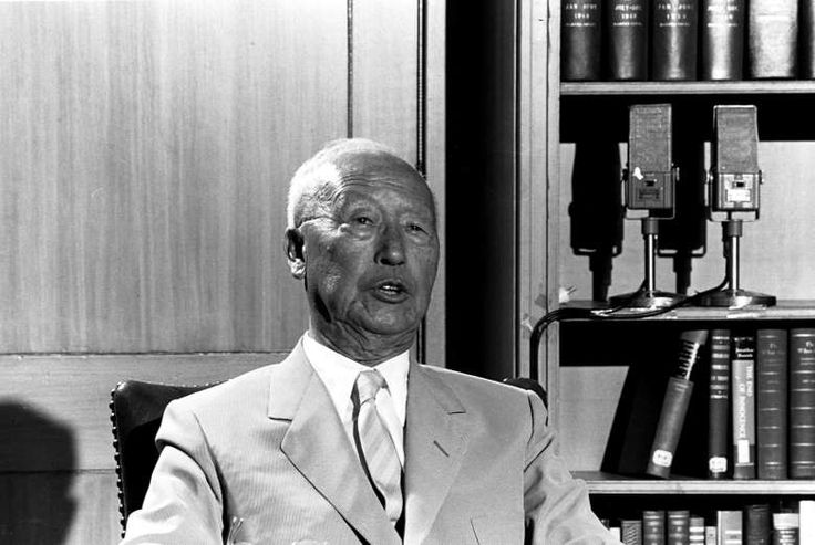 July 20,  1948: SYNGMAN RHEE BECOMES THE FIRST PRESIDENT OF SOUTH KOREA  -   Syngman Rhee, the leader of Korean independence movement becomes the first president of the Republic of Korea. He assumed office 4 days later. He ruled South Korea during the Korean War. Koreans grew increasingly dissatisfied with his dictatorial leadership and in 1960 Rhee resigned amid student demonstrations and government votes against him.