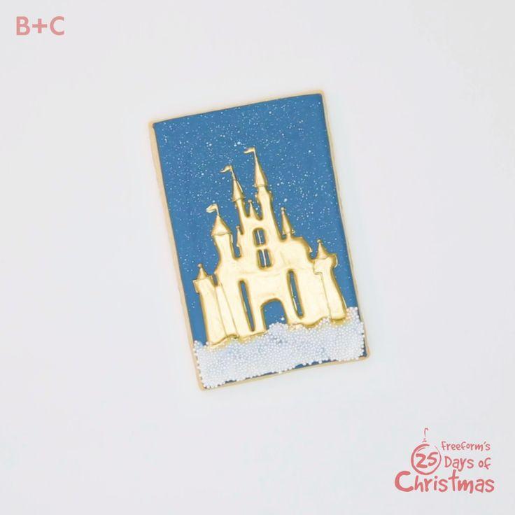 Who needs a fairy godmother? You can whip up this magical Disney cookie all on your own! For more Disney dreams come true, check out Decorating Disney: Holiday Magic on Freeform's 25 Days Of Christmas.