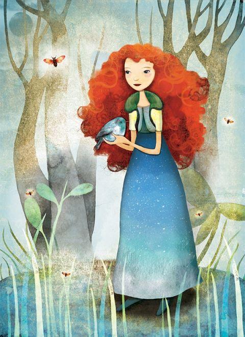 Az erdő tündére - Print (Digitális), Képzőművészet , Dekoráció, Illusztráció, Kép, Fotó, grafika, rajz, illusztráció, Meska