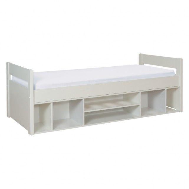 PONGO White kid's eu single storage bed 90cm