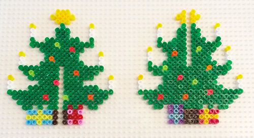 3D Christmas Tree hama mini perler beads .... I made one of these at Christmas it looked great on my fireplace :-) (christmas art tree)