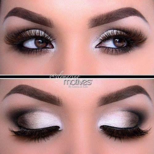Zilver smokey eyes