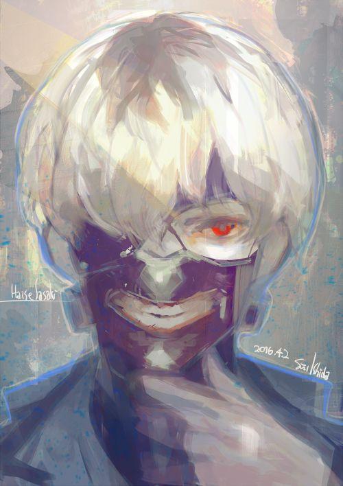 Sasaki Haise ||| Tokyo Ghoul: Re Art by Ishida Sui