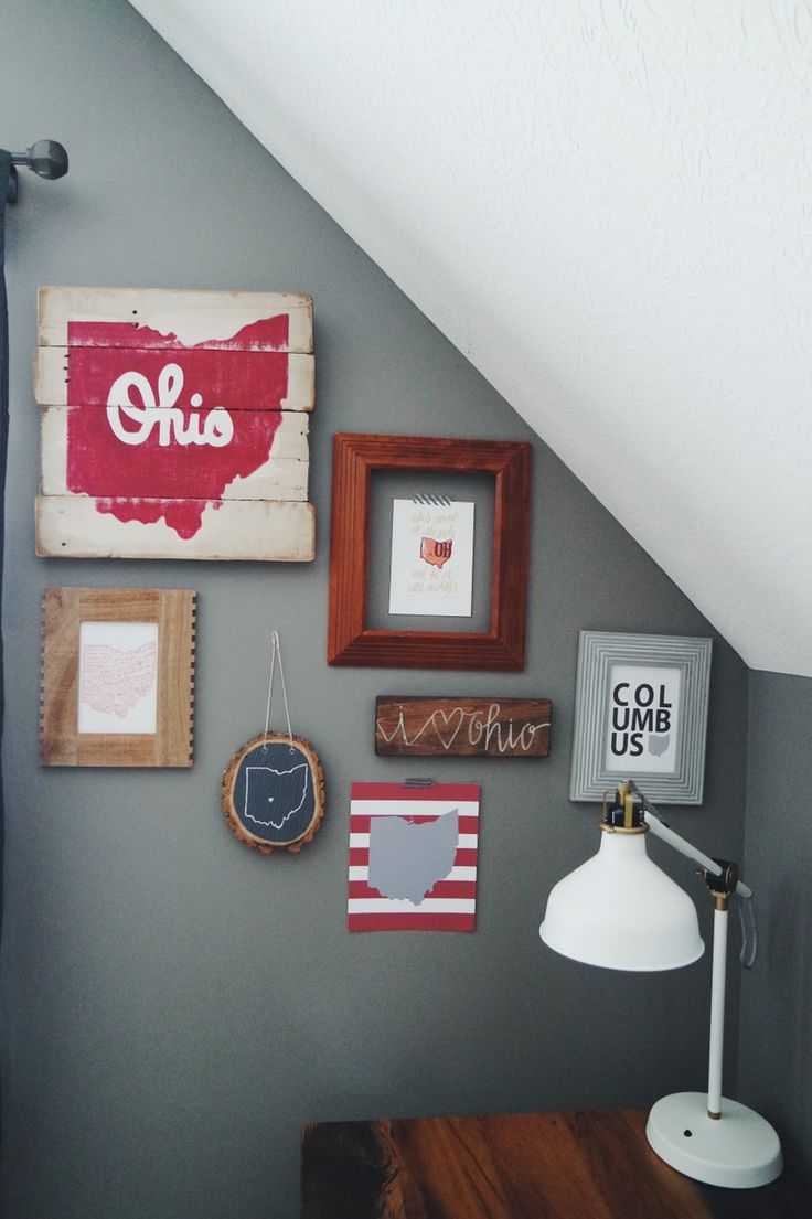 Ohio state gallery wall #kaityeckldesignsco