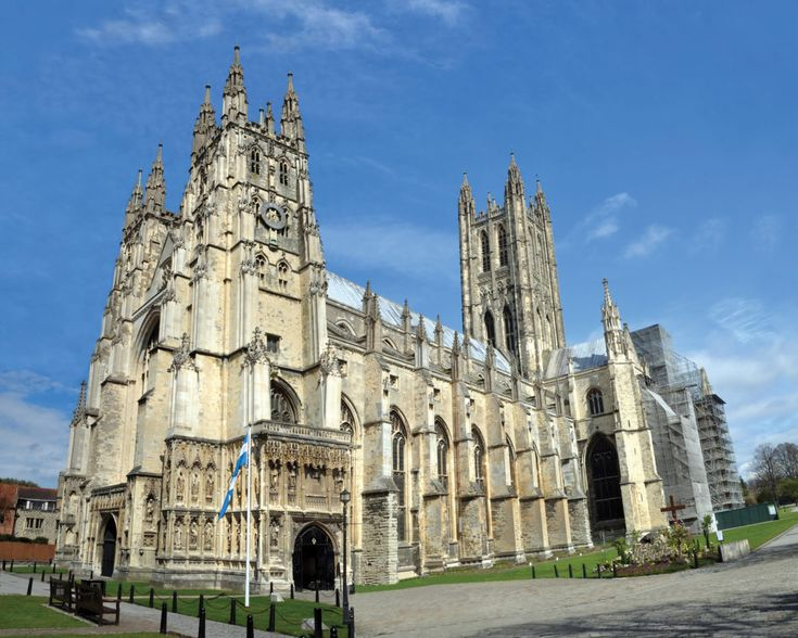 Canterbury Cathedral: Home of the Church of England and, in many ways, Britain's spiritual centre. Almost since the introduction of Christianity to Britain, it has had an important role in the nation's relationship with the Church. In 596, Pope Gregory the Great sent the Benedictine monk Augustine as a missionary to the Anglo-Saxons. He began work on the first cathedral in 597 (completed in 602 and was eventually ordained as the first Archbishop of Canterbury by Gregory. © NigelSpiers