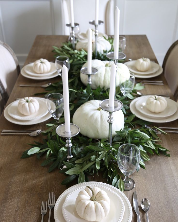 Neutral Fall Table Style – Cape Cod Farmhouse