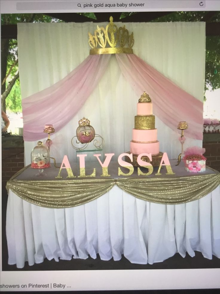 152 Best Princess Baby Shower Images On Pinterest  Party Ideas, Baby Showers And -4536