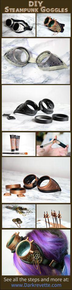 DIY and tutorials:Lunettes steampunk à partir de lunettes de soudure ~ Darkrevette ;D