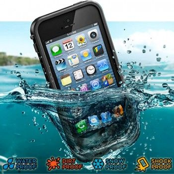 iPhone 5/5S Cases : Ultra Slim Life Proof - Waterproof Case for iPhone 5 & 5s